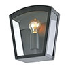 Revive Outdoor Satin Black Curved Top Box Lantern profile small image view 1