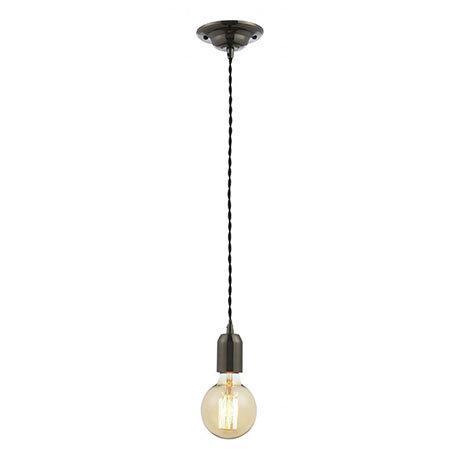 Revive Vintage Black Nickel/Black Cable Pendant Light