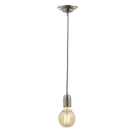 Revive Vintage Polished Nickel/Braided Cable Pendant Light
