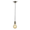 Revive Brushed Nickel Braided Cable Pendant Light profile small image view 1