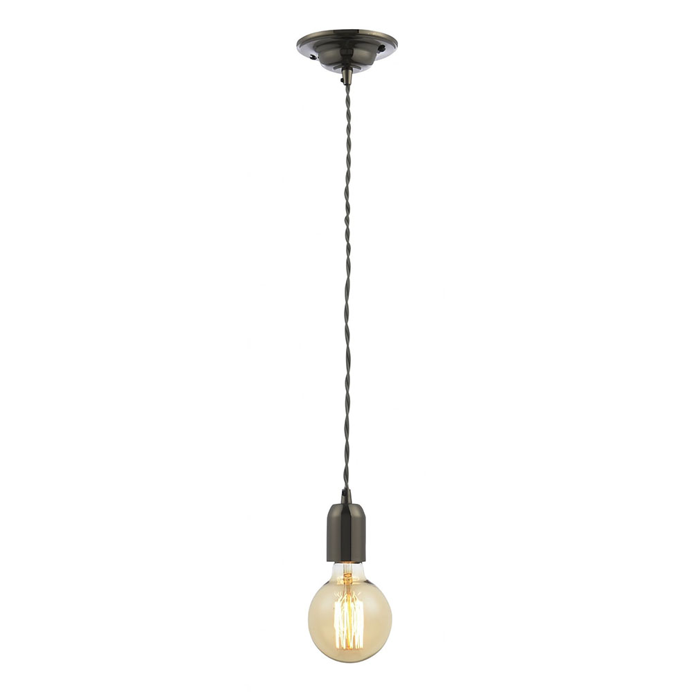 Revive Grey Braided Cable Pendant Light