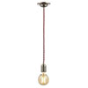 Revive Red Braided Cable Pendant Light profile small image view 1