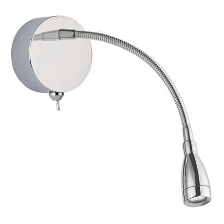 Revive LED Chrome Adjustable Reading Wall Light