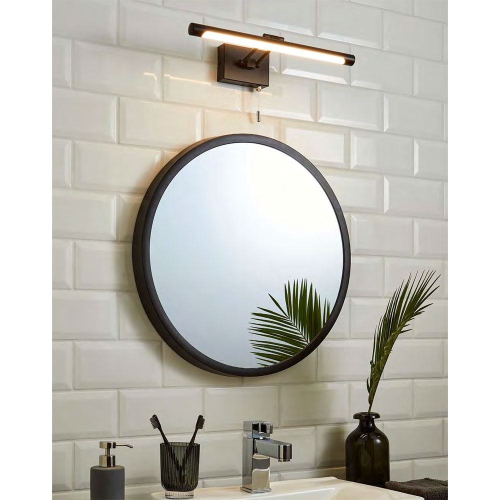 Revive Matt Black LED Bathroom Picture/Mirror Light
