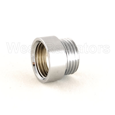 Rigid Radiator Valve Extension 1/2 BSP - Chrome Plated profile large image view 1