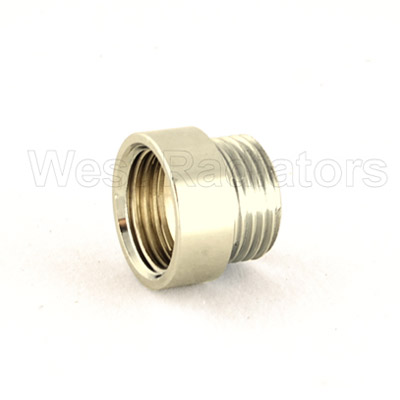 Rigid Radiator Valve Extension 1/2 BSP - Nickel Plated Large Image