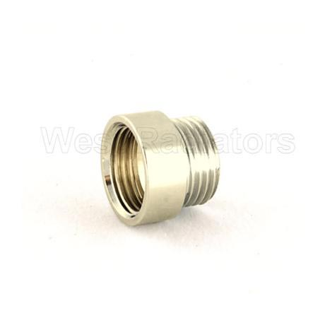 Rigid Radiator Valve Extension 1/2 BSP - Nickel Plated