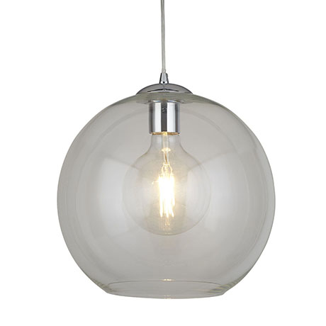 Revive Globe 30cm Clear Glass Ceiling Pendant