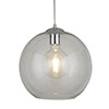 Revive Clear Glass Ball Pendant Ceiling Light, 25cm profile small image view 1