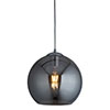 Revive Glass Ball Pendant Light - Smoked Glass, 30cm profile small image view 1