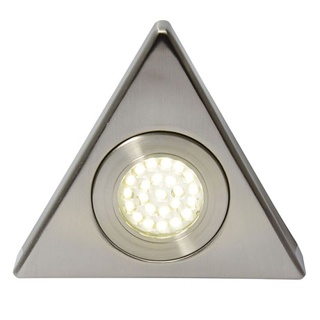 Revive Triangle LED Under Cabinet Light Satin Nickel