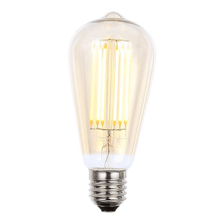 Revive Vintage E27 ES LED Amber Glass Squirrel Lamp