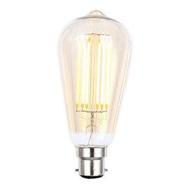 Revive B22 LED Filament Bayonet Bulb - Amber Glass