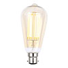 Revive B22 LED Filament Bayonet Bulb - Amber Glass profile small image view 1