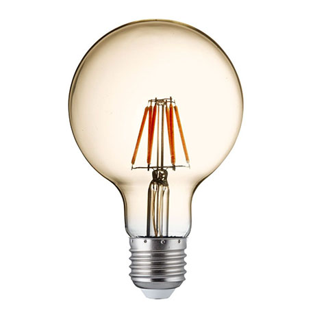 Revive Vintage E27 LED Amber Glass Globe Lamps (Pack of 5)