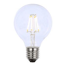 Revive Small E27 LED Filament Globe Bulb - Clear Glass