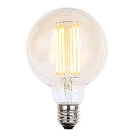 Revive Large E27 LED Filament Globe Bulb - Amber Glass