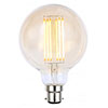 Revive G80 LED Filament Globe Bayonet Bulb - Amber Glass profile small image view 1