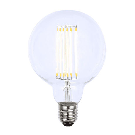 Revive Vintage E27 G95 ES LED Filament Clear Glass Globe Lamp