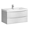 Ronda White Ash 900mm Wide Wall Mounted Vanity Unit Medium Image