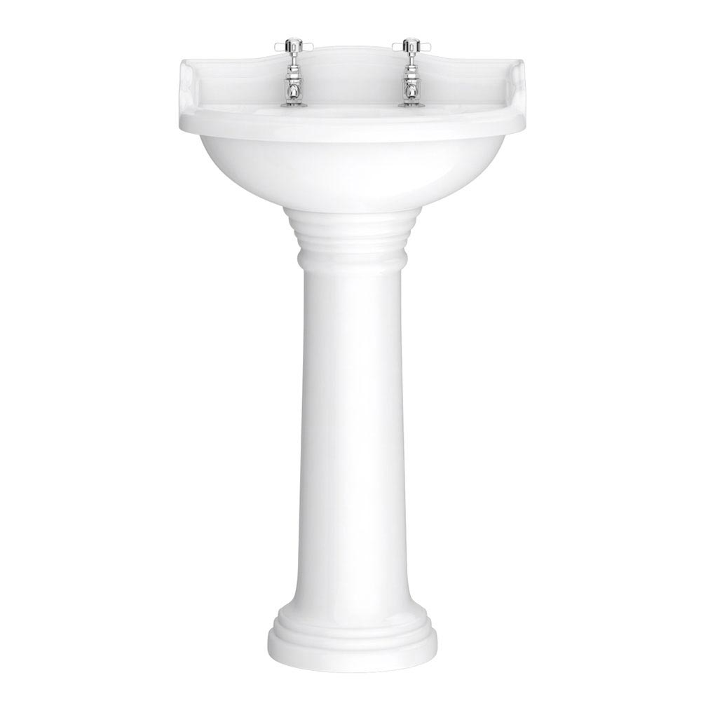 Downton Abbey Ryther Close Coupled Traditional Bathroom Suite - Ivory profile large image view 6