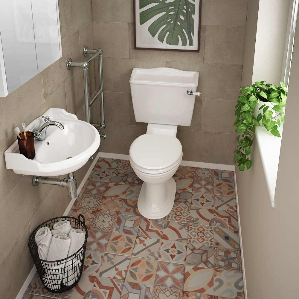 Monaco Cloakroom Suite (Wall Hung Basin + Close Coupled Toilet)