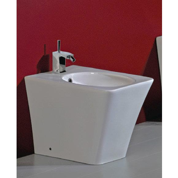 Rak Opulence Bidet with Porcelain Waste - White profile large image view 1