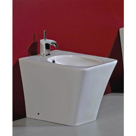Rak Opulence Bidet with Porcelain Waste - White
