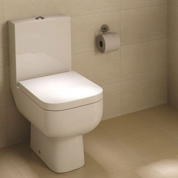 Rak Series 600 Toilet Inc. Soft Close Seat with White Compact Vanity Unit Feature Large Image