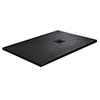 Imperia 1400 x 900mm Black Slate Effect Rectangular Shower Tray + Black Waste profile small image view 1