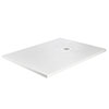 Imperia 1600 x 900mm White Slate Effect Rectangular Shower Tray + White Waste profile small image view 1