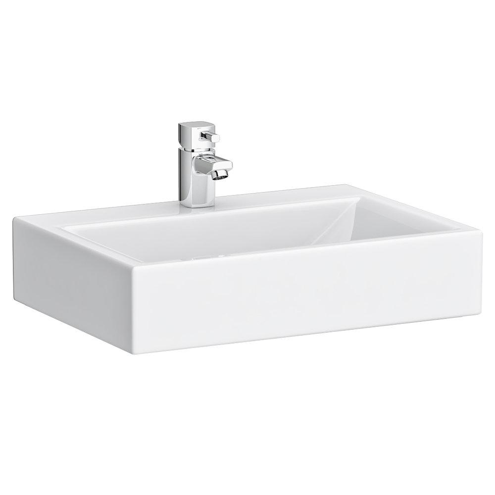 Inset wash basin vanity basin washbasins - Rectangular Counter Top Ceramic Basin Bas007 At Victorian Plumbing Uk