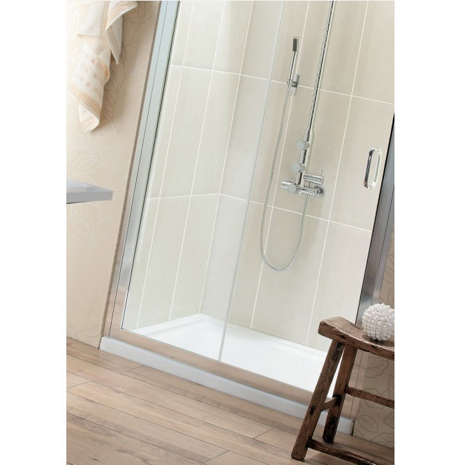 Simpsons - Rectangular Low Profile Acrylic Shower Tray with Waste - Various Size Options profile large image view 2