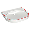 Franke ANMW504-RED 450mm VariusCare wheelchair accessible washbasin profile small image view 1