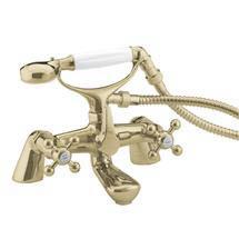 Bristan - Regency Luxury Bath Shower Mixer - Gold Plated - R-LBSM-G Medium Image
