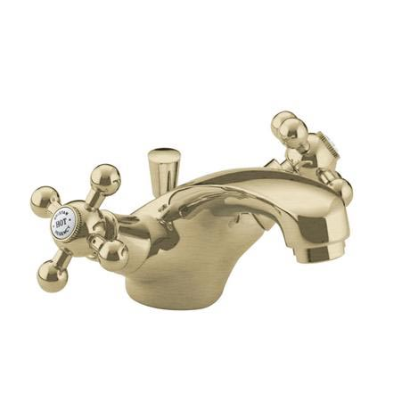 Bristan - Regency Mono Basin Mixer w/ Pop Up Waste - Gold Plated - R-BAS-G