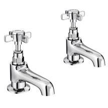 Regent Chrome Traditional Bath Taps Medium Image