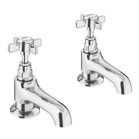 Regent Traditional Basin Taps - Chrome