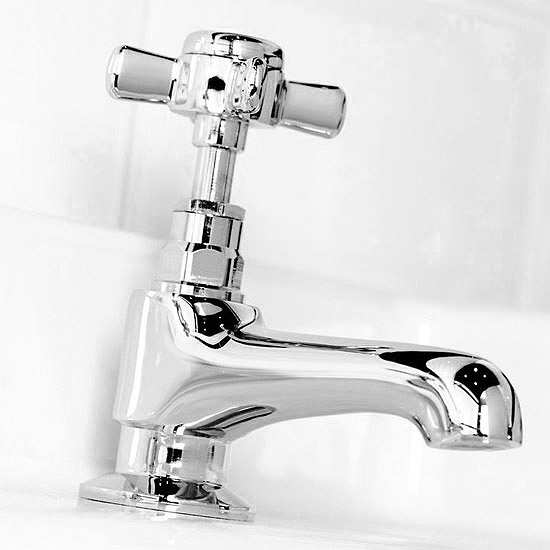 Regent Traditional Basin and Bath Taps - Chrome profile large image view 2