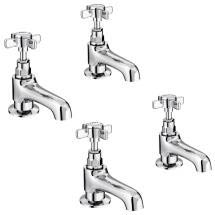 Regent Traditional Basin and Bath Taps - Chrome Medium Image