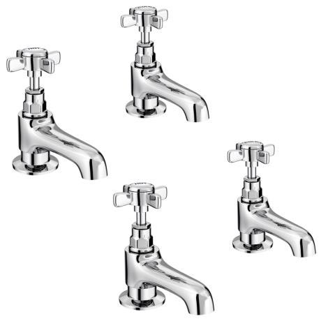 Regent Traditional Basin and Bath Taps - Chrome