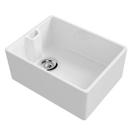 Reginox Contemporary White Ceramic Belfast Kitchen Sink + Waste