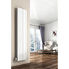 Reina Flat Vertical Single Panel Designer Radiator - RAL Colour Options profile small image view 1