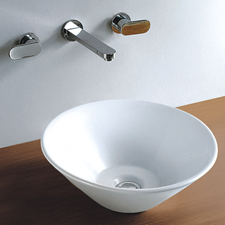 Renoir Round Counter Top Basin 0TH - 410mm Diameter profile large image view 1