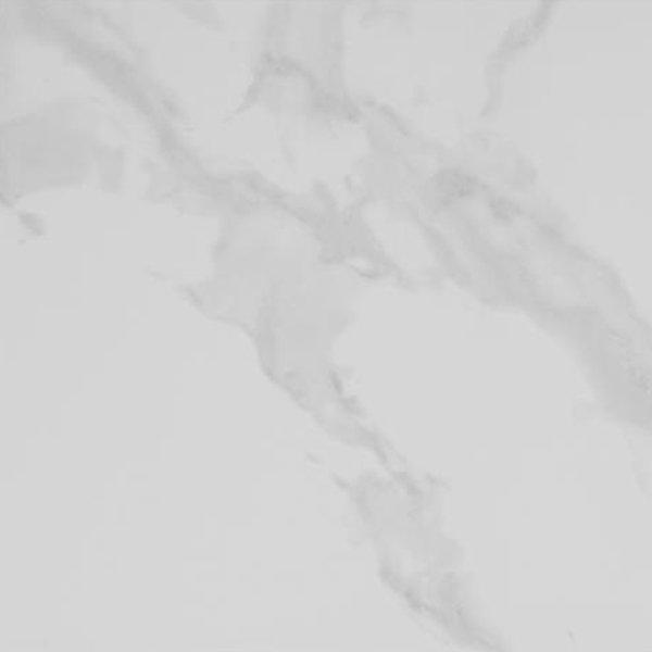 Rhodes White Gloss Marble Effect Floor Tile - 47 x 47cm Large Image