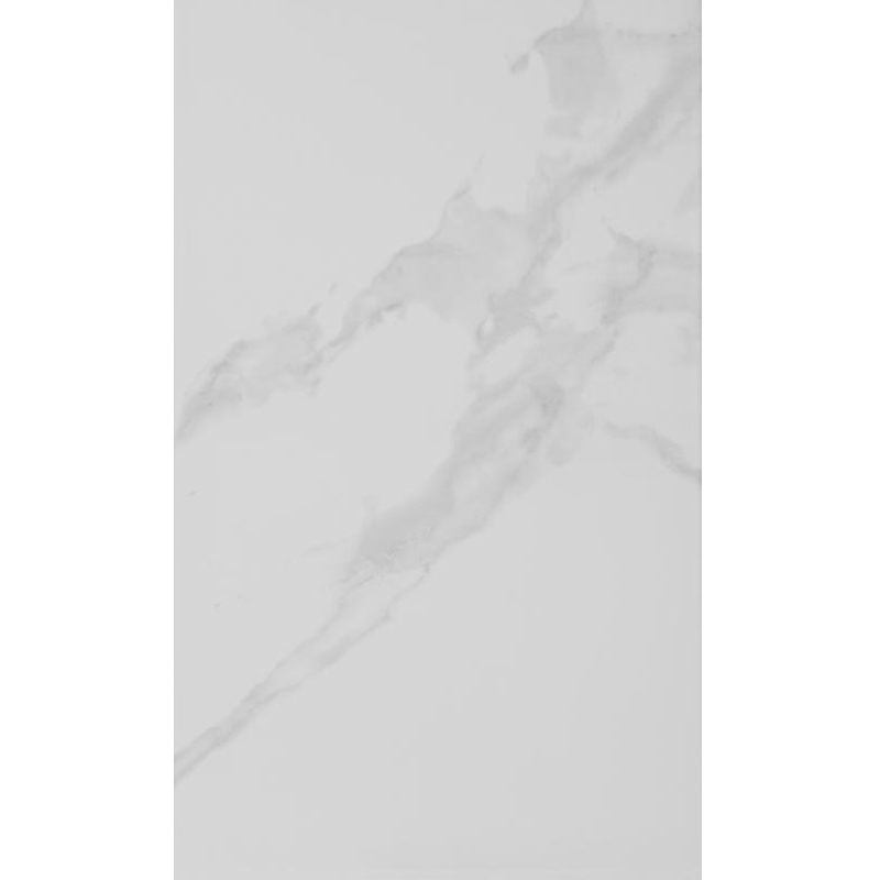 Rhodes White Gloss Marble Effect Wall Tile - 33.3 x 55cm Large Image