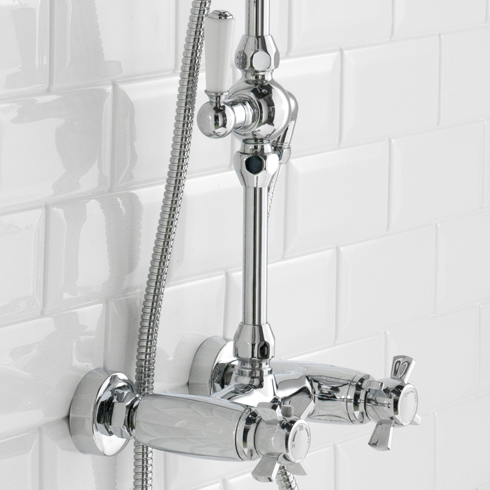 Richmond Traditional Thermostatic Shower with Rigid Riser Kit & Diverter Feature Large Image