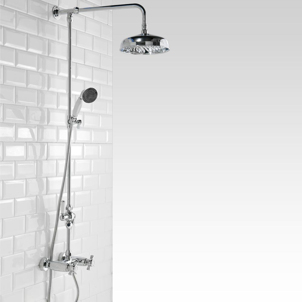 Richmond Traditional Thermostatic Shower with Rigid Riser Kit & Diverter Large Image