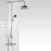 Richmond Traditional Thermostatic Shower with Rigid Riser Kit & Diverter Medium Image