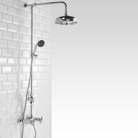 Richmond Traditional Thermostatic Shower with Rigid Riser Kit & Diverter